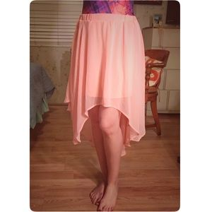 Pink High Low Skirt By Charlotte Russe Size M